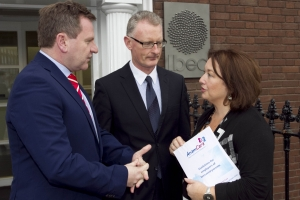 Anam Cara helps employers to support bereaved parents 1,900 families bereaved each year in Ireland.   Anam Cara, the national organisation that provides support services to bereaved parents and families, published their best practice guidelines for employers to support parents whose child has died. The guidelines address relevant and sensitive concerns and advise employers how to proceed immediately after the death of an employee's son or daughter and what to do before and after they return to work. Pictured from left: Danny McCoy, Chief Execitive IBEC, Ian Talbot, Chief Executive Chambers Ireland and Sharon Vard, Chief Executive Anam Cara.  Picture Colm Mahady / Fennells - Copyright 2014 Fennell Photography
