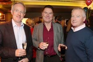 NO REPRO FEE Dick Bourke,Derek Corcoran and Dave Hudson pictured at the annual fundraising launch in Saba Restaurant for Anam Cara, the organisation that supports Parents after Bereavement. Photo: Leon Farrell/Photocall Ireland.