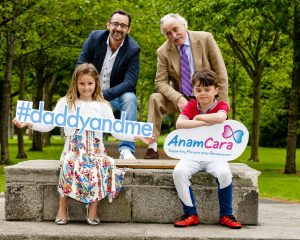 "Anam Cara ""meanddaddy"" campaign launch Molly Bennett, aged 7 Dad Benji Bennett Grandad Tony Bennett Robbie Bennett, aged 9 Iain White/Fennell Photography Fennell Photography 2016"